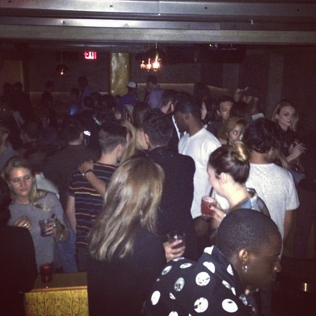 Packed night at #gildedlily #twelvmagazine #nyfw