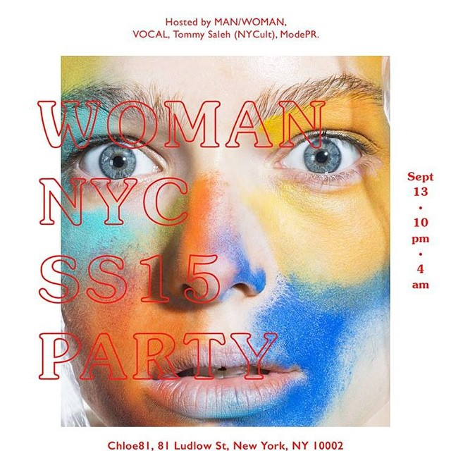 Tonight at #chloe81. #man/women #NYC #ss15 #party hosted by @tommysaleh #nycult #modepr #vocal #man/women